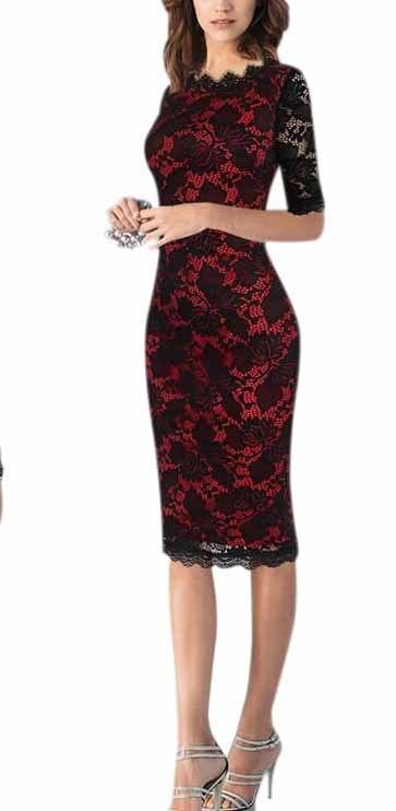 Women Summer Work Elegant Ladylike Crochet Flower Lace Pattern Short