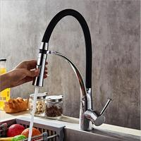 New Arrival Pull Out Kitchen Faucet Chrome Swivel Kitchen Sink Mixer Tap 360 Degree Rotation Kitchen