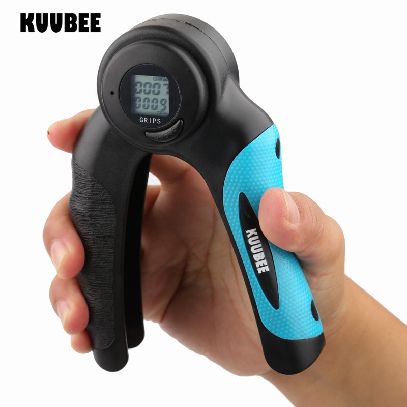 Dual LCD Hand Grippers Sports Fitness Finger Exerciser Dynamometer Grip Strength Adjustable Strength Calories Hand Grip