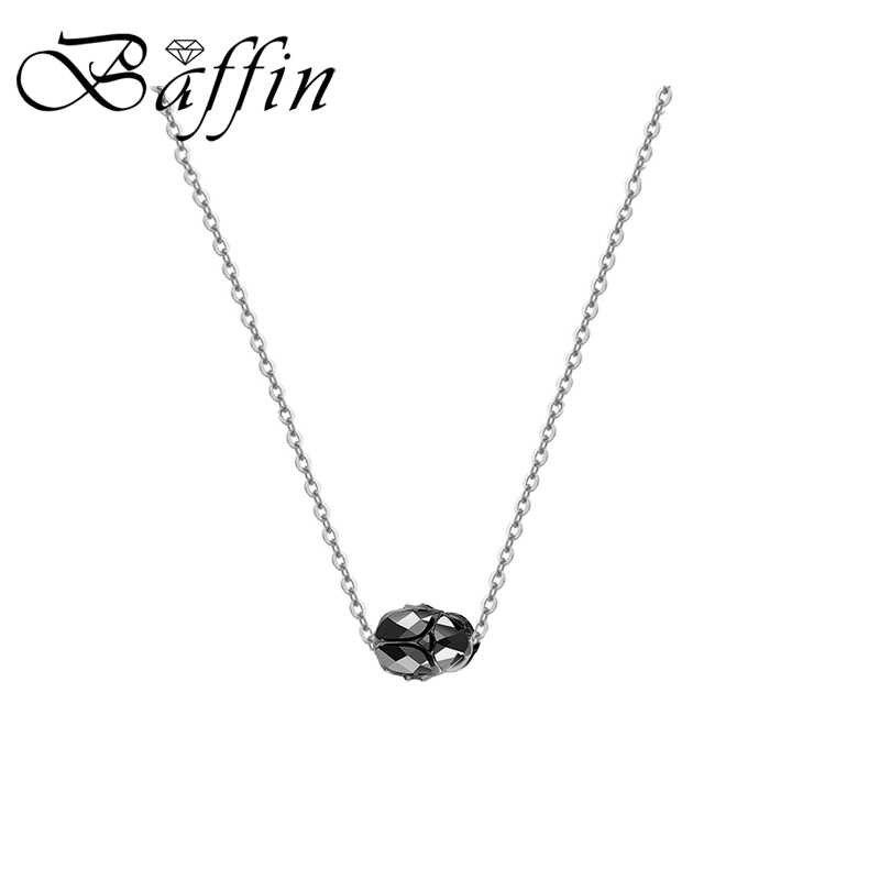 BAFFIN Retro potężny Scarab Bead naszyjniki wisiorek kryształy Swarovskiego kolor złoty łańcuch obroże dla kobiet mężczyzn akcesoria