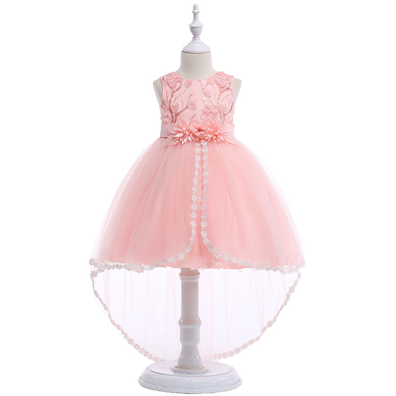 SISTERS dress, flower boy, wedding dress, tail dress, princess , girl applique, sleeveless, gauze, and fluffy dress.
