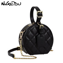 NIGEDU Circular women's shoulder bag luxury Diamond design h