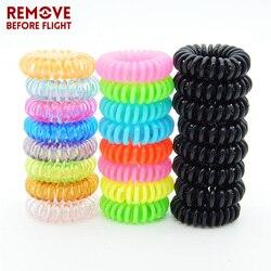 10 PCS/LOT mode bonbon couleur élastique bandeau porte-bracelet téléphone fil chaînes bijoux Sauna plage bracelet