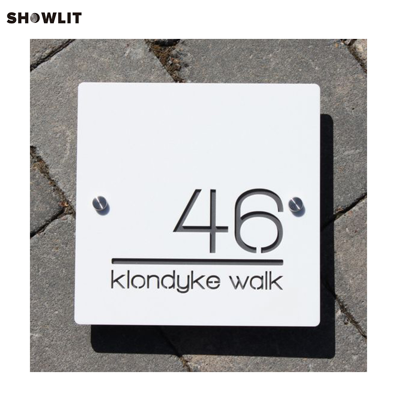 US $68 8 |Stainless Steel Custom Made Laser Cut House Signs, Numbers and  Plaques Marine Grade Brushed-in Door Plates from Home Improvement on