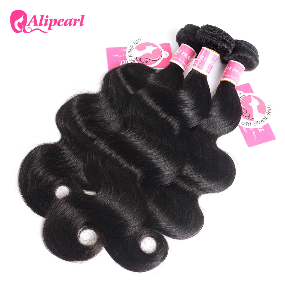 Hair Extensions & Wigs Ali Pearl Hair Body Wave 1 Bundles Peruvian Hair Weave Bundles 8-26 Human Hair 3 And 4 Bundles Natural Color Remy Hair Extension Invigorating Blood Circulation And Stopping Pains