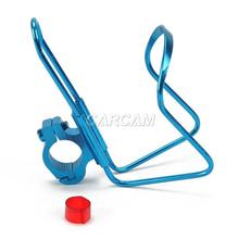Bike Motorcycle Handlebar Mount Aluminum Alloy Drink Bottle Cup Holder Blue
