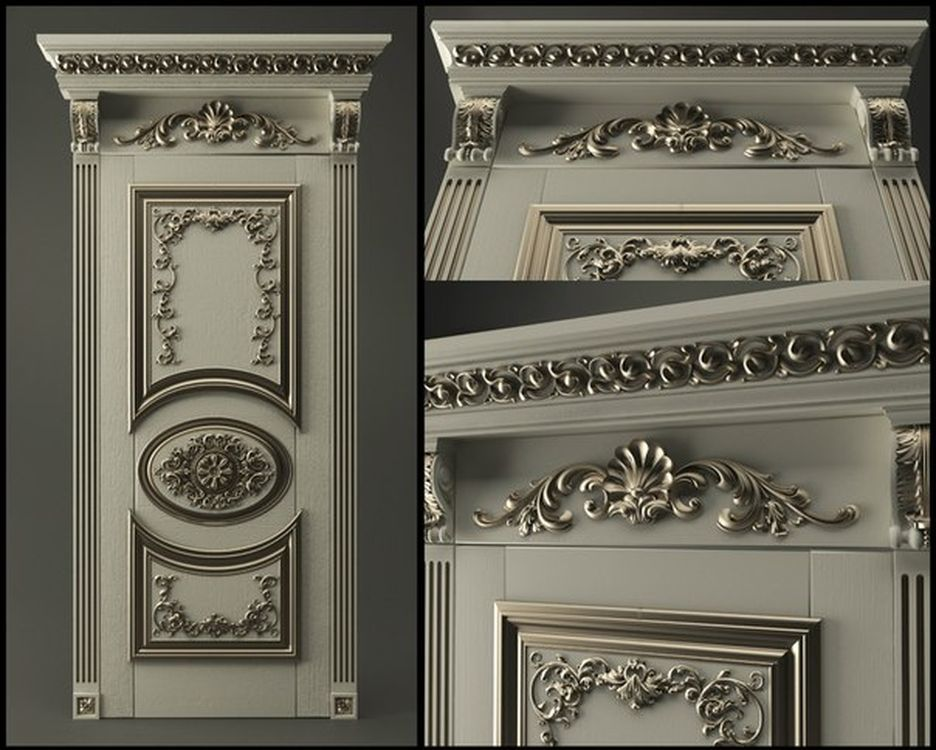 3D Model STL relief for cnc STL format Furniture--Door_2 3d model relief for cnc in stl file format animals and birds 2