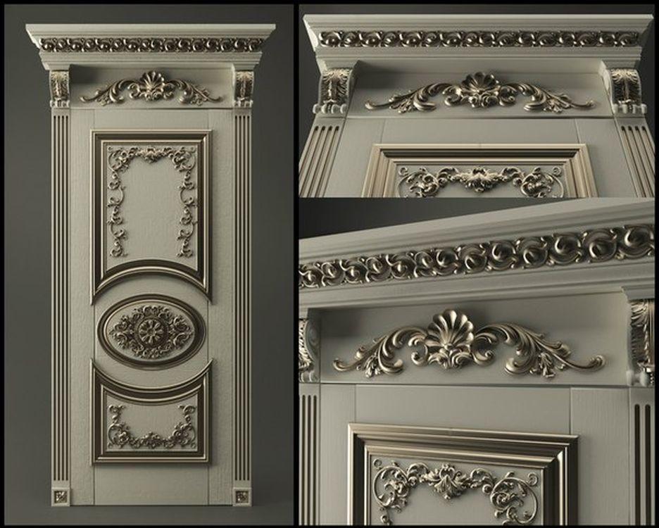 3D Model STL Relief For Cnc STL Format Furniture--Door_2