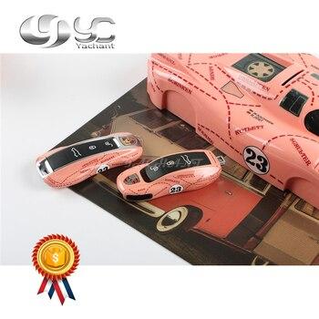 สองชนิดของ Fitment 100% หมูสีชมพู Auto Key Case สำหรับ Panamera 971 Cayenne Macan 911 Boxster 718 Key ผู้ถือเปลี่ยน