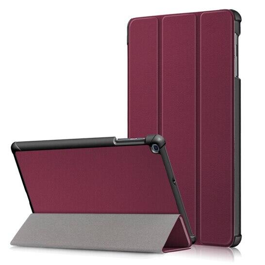 Para Samsung Galaxy Tab 10.1 2019 T510 T515 SM-T510 SM-T515 Tablet Caso Custer 3 Tri Fold Stand Suporte Flip capa de couro