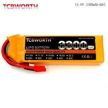 4S font b RC b font Lipo Battery 14 8v 3300mAh 60C MAX 120C For font