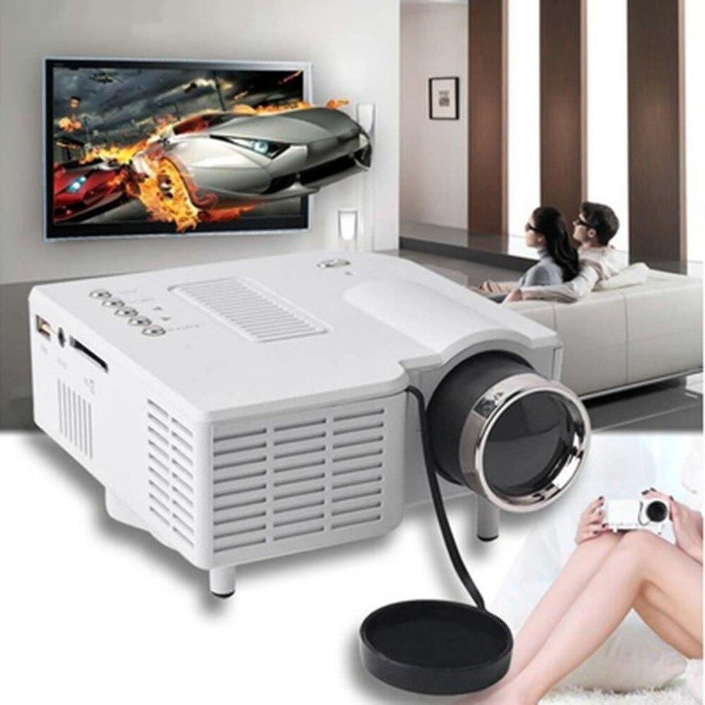 UC28 + мини Портативный 1080 P проектор для домашнего Кино Театр обновлен HDMI Интерфейс домашних развлечений устройство мультимедийный плеер нам