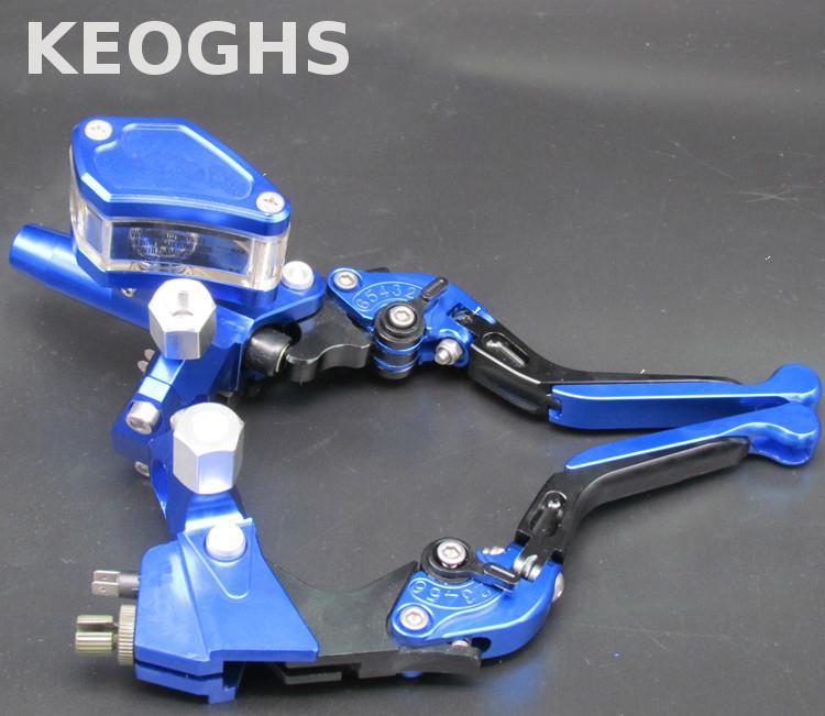 Keoghs Универсальный 22 мм главный тормозной цилиндр и тормозной рычаг сцепления 12.7 мм складной выдвижная для Хонда Ямаха Кавасаки Сузуки