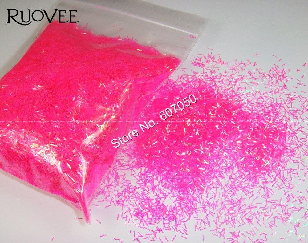 50 Gworek Luminous Fuksja Kolor Listwy Shining Paznokci Glitter