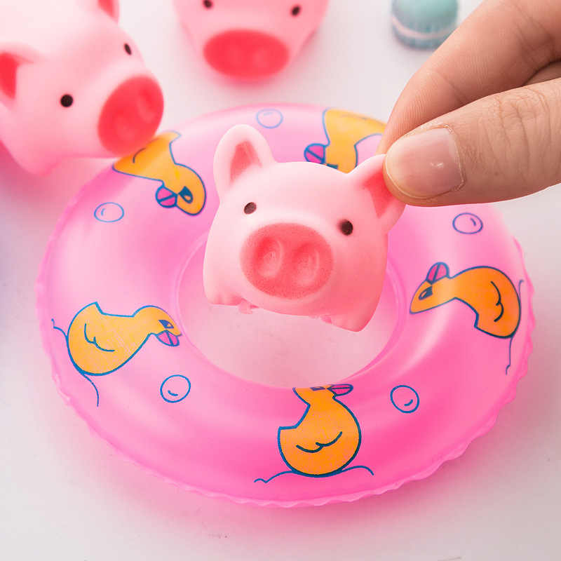 1 pcs ความปลอดภัยพลาสติกเด็ก Kawaii แกะสัตว์ Chew Sound เล่น Squeaker ตลก Tricky ของเล่นเด็ก Happy ของขวัญ Gags & Practical Jokes