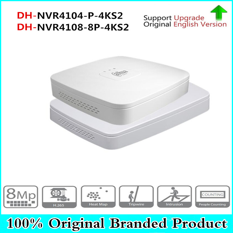 DH 4K POE NVR NVR4104-P-4KS2 NVR4108-8P-4KS2 with 4/8ch PoE h.265 Video Recorder Support ONVIF 2.4 SDK CGI White POE NVR new hot sell dahua 8ch nvr h 264 1080p network video recorder nvr4108 8p smart 1u support english firmware and onvif