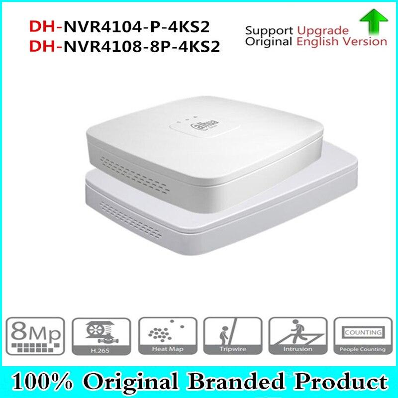 DH 4K POE NVR NVR4104-P-4KS2 NVR4108-8P-4KS2 with 4/8ch PoE h.265 Video Recorder Support ONVIF 2.4 SDK CGI White POE NVR