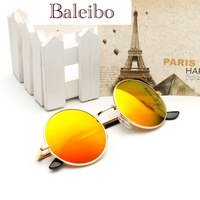 Europe And America Retro Small Round Sunglasses Sunglasses For Men And Women Colorful Reflective Star Big