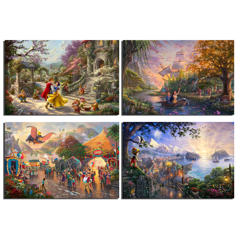 Thomas Kinkade Disney/'s The Princess and the Frog Prestige Home Collection