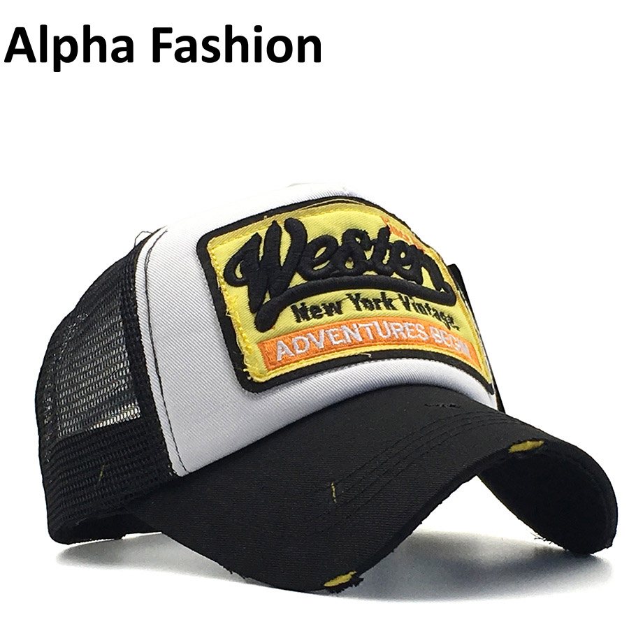 Alpha Fashion Summer Baseball Cap Embroidery Mesh Cap For Men Hats Women Gorras Hombre Casual Hip Hop Caps Dad Hat Casquette