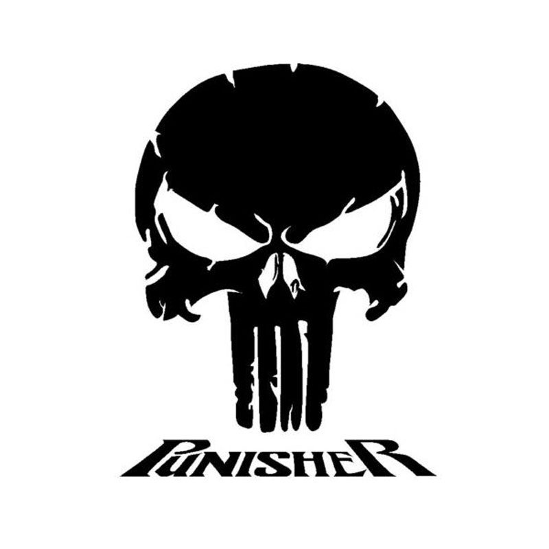 14cm 18cm Punisher Vinyl Fashion Creative Personality Cool
