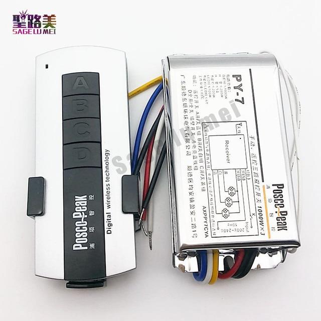 LED3 แผนที่Remote Controller 1000W * 3CHสูงแรงดันไฟฟ้าแพ็คเก็ตControllerไร้สายRF Sensitiveรีโมทคอนโทรล