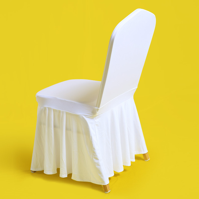 how to make easy chair covers for wedding sling outdoor cushions 50pc white universal stretch skirts cover spandex party skirting weddings dining hotel pleat