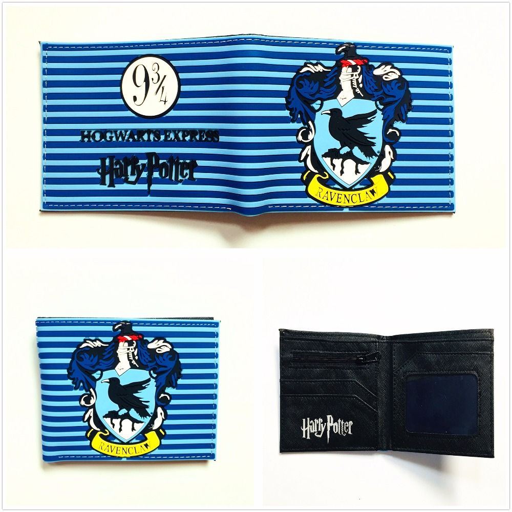 High Quality PVC Harry Potter Wallet Hogwarts Colleges HUFFLEPUFF RAVENCLAW Purse With Card Holder W984Q