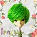 Cheap Green/lemon yellow/blue shot hair boy style bjd wigs for 1/4 dolls on sale