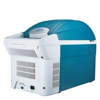8.5L Auto Mini Refrigerator Car Home Daul Use Portable Fridge Icebox Freezer Cooler Heater Rapid Refrigeration High Capacity