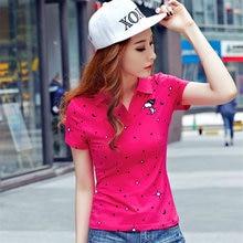 Women Summer Polka Dot Print Polo shirt cotton polo femmes raph polo femme shirt dames poloshirts camisa ladies SWeet tops