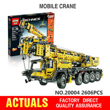 IN STOCK Free shipping 2606pcs LEPIN 20004 technic series Motor power mobile crane MK Model Building blocks Bricks Compatible