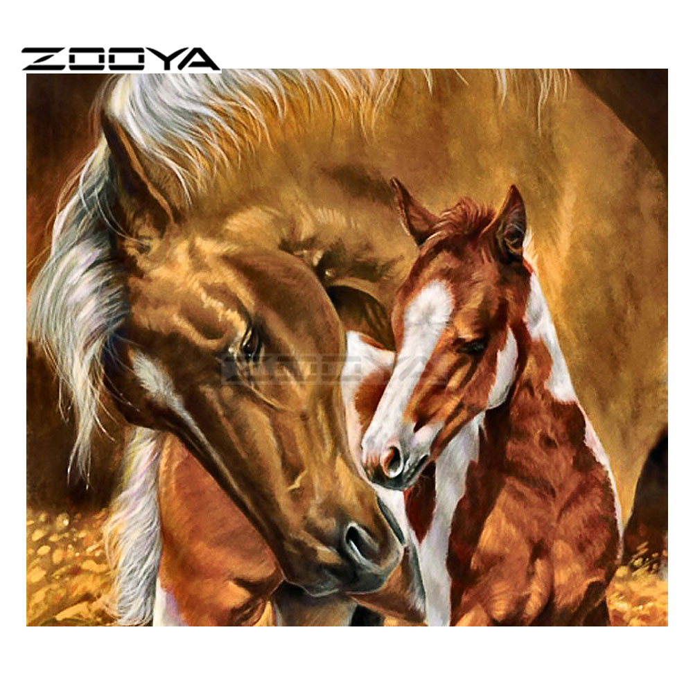 Zooya sale diamond embroidery 5d diy diamond painting home - Home interior horse pictures for sale ...