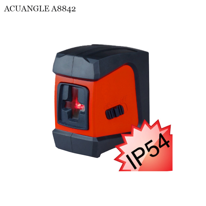 ACUANGLE A8842 Red Laser Level 360 Self-leveling Rotary 2 Lines 1 Point Nivel Laser auto nivelamento Portable Diagnostic-tool green acuangle a8832g laser level 635nm 2 cross lines 360 rotary laser levels indoor outdoor portable automatic high brightness