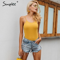 Simplee Sexy Pink Strap Knitting Bodysuit Women Casual 2017 Autumn Femme Jumpsuit Romper Black Short Overalls