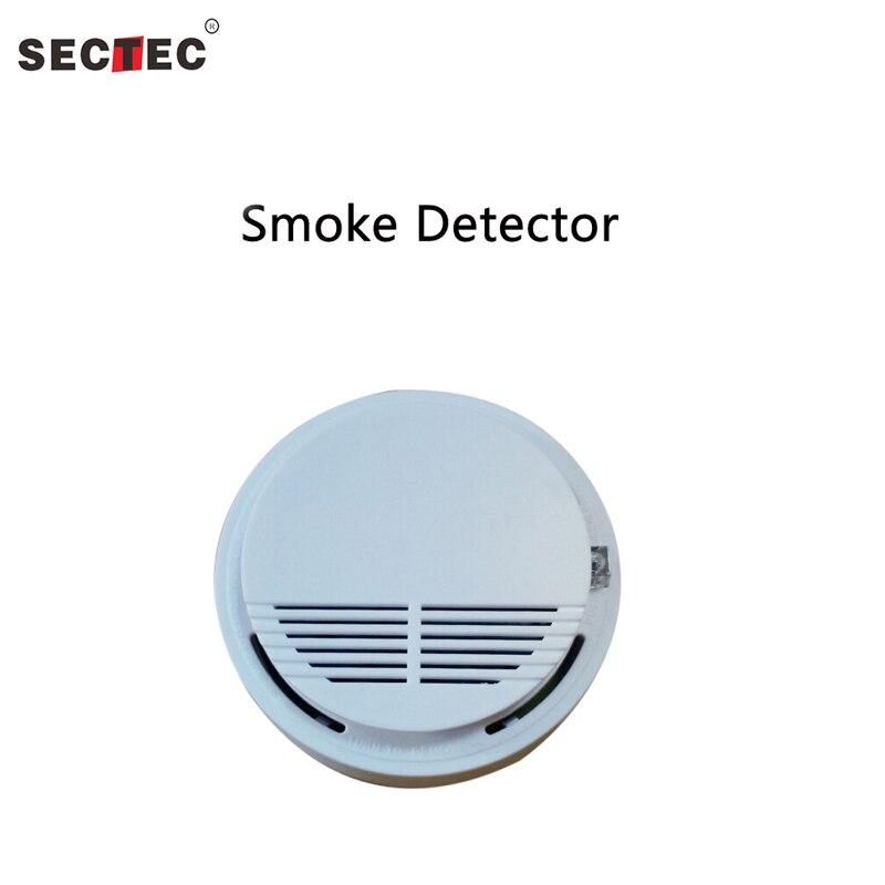 SECTEC Smoke Detector Wireless Smoke Alarm Fire Smoke Detector Sensor for Security System