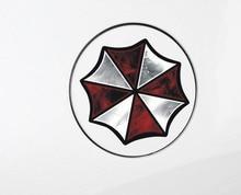 2*Pcs Resident Evil Corporation Umbrella Personality Cartoon Glue Sticker Car Decal Covers Waterproof Reflective On Fuel Tank