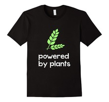High Quality Design Crew Neck Powered By Plants Vegan  Short Sleeve T Shirts For Men