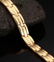 Высокое качество здоровья магнит золотой цвет браслеты для женщин