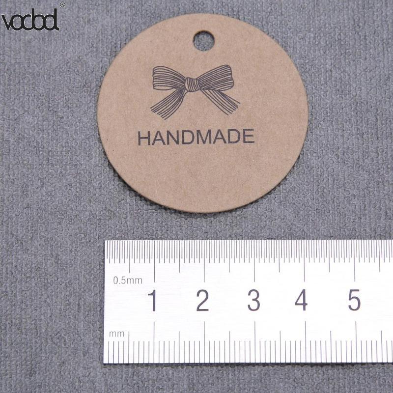 100Pcs/set Round Kraft Paper Tag Handmade Gifts Label DIY Price Luggage Name Hang Tags Wedding Party Supplies Hot Sale