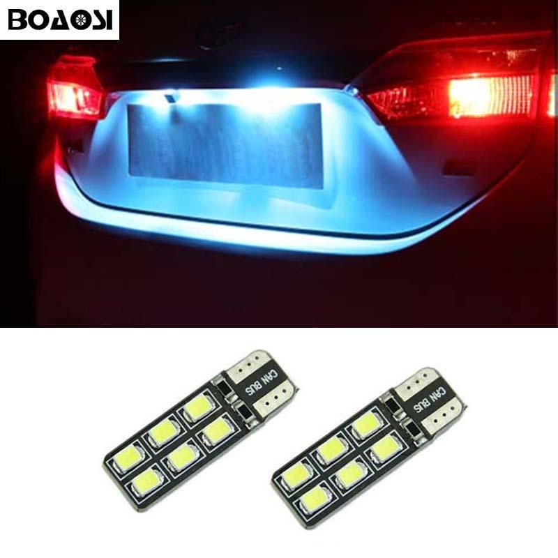 BOAOSI 2x <font><b>CANBUS</b></font> T10 W5W 2835 SMD Car Interior Bulb License Plate Light For Opel Adam Corsa C Corsa C Combo Corsa D Astra H