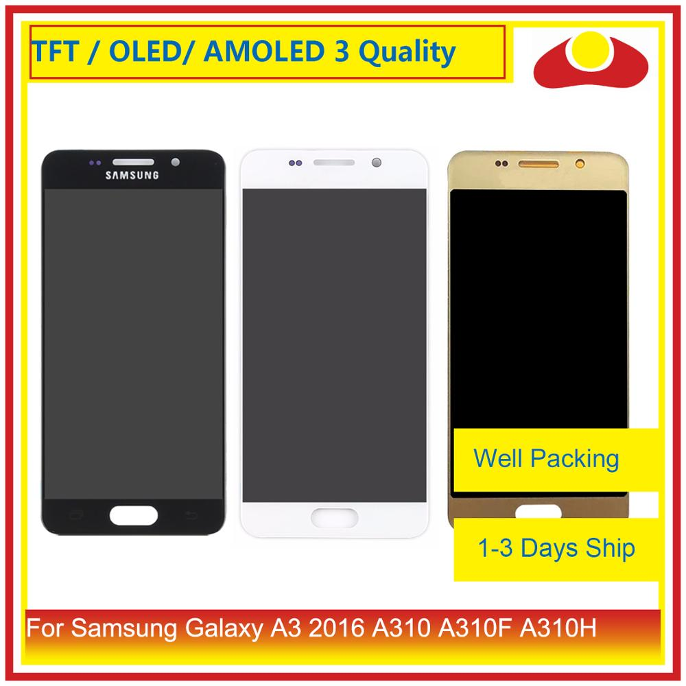 <font><b>ORIGINAL</b></font> Für <font><b>Samsung</b></font> <font><b>Galaxy</b></font> A3 2016 <font><b>A310</b></font> A310F A310H A310M <font><b>LCD</b></font> Display Mit Touch Screen Digitizer Panel Pantalla Komplette image