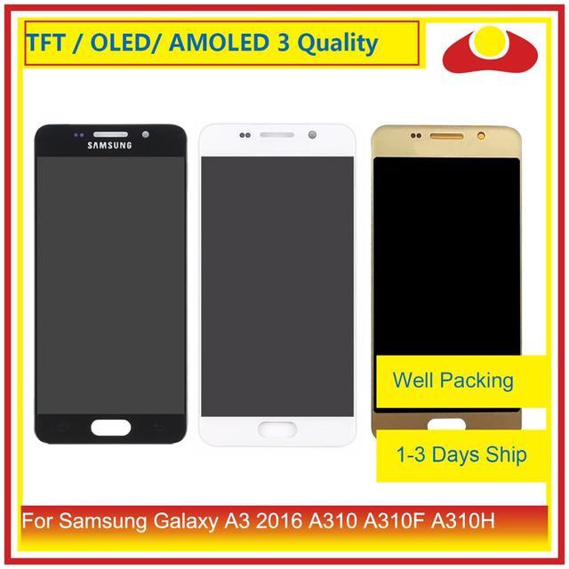 10 Pcs/ot Voor Samsung Galaxy A3 2016 A310 A310F A310H A310M Lcd scherm Met Touch Screen Digitizer Panel pantalla Compleet