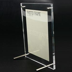 1PCS/LOT  Transparent Organic Glass Acrylic Photo Frame,(5 inch-12.7*16.5 cm )