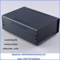 1pcs 150x70x200mm Standard Iron Box For Device Enclosure Iron Box For Pcb Box Enclosures Electronic
