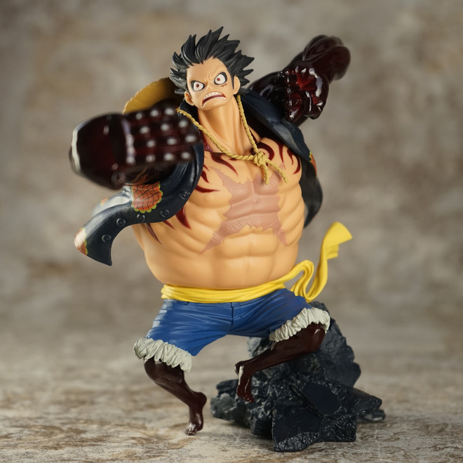 6 Inch One Gear fourth Monkey D Luffy 15cm action figure toys Christmas toy with box SC form on top of king battle 4 hand model anime one piece monkey d luffy gear fourth pvc action figure collection model toy