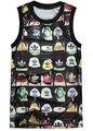Los hombres y las mujeres Del Estilo Del Verano de Secado rápido Gimnasio Tank Tops hombre Fresco Chalecos Camisola Impresión Punky Atractiva Delgada camiseta
