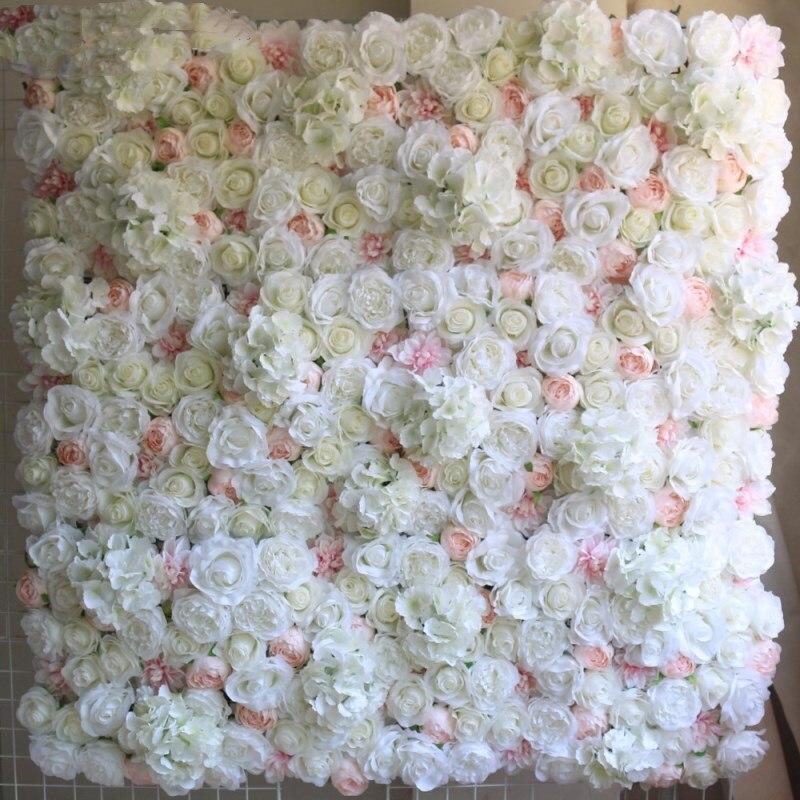 Hot Koop Upscale Wedding Achtergrond Centerpieces Bloem Panel Rose Hortensia Bloem Muur Party Decoraties Levert 24 stks/partij