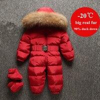 Newborn Baby Clothes Enfant Duck Down Romper Infant Overalls Fur Collar Boys Girls Snowsuit Children Snow Wear Jumpsuit