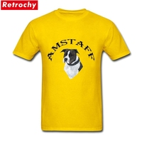Custom Short Sleeve Valentine S AMSTAFF DOG Tees Shirt Casual For Men 3XL T Shirt Buy